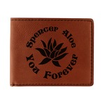 Succulents Leatherette Bifold Wallet (Personalized)