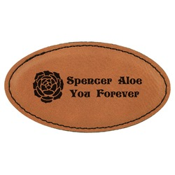 Succulents Leatherette Oval Name Badge with Magnet (Personalized)