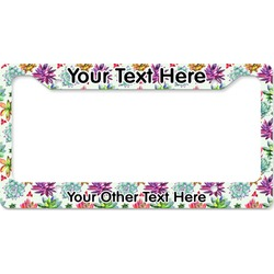 Succulents License Plate Frame (Personalized)
