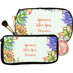 Succulents Makeup / Cosmetic Bag (Personalized)