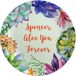 Succulents Melamine Plate (Personalized)