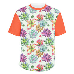 Succulents Men's Crew T-Shirt (Personalized)