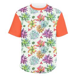 Succulents Men's Crew T-Shirt (Personalized)