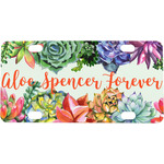 Succulents Mini / Bicycle License Plate (Personalized)