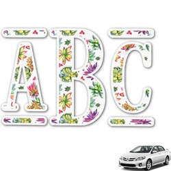 Succulents Monogram Car Decal (Personalized)
