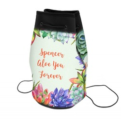 Succulents Neoprene Drawstring Backpack (Personalized)