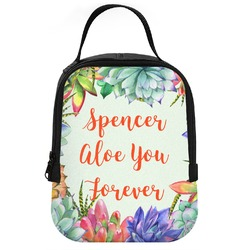 Succulents Neoprene Lunch Tote (Personalized)