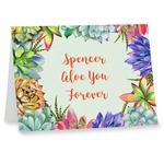 Succulents Note cards (Personalized)