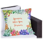 Succulents Outdoor Pillow (Personalized)