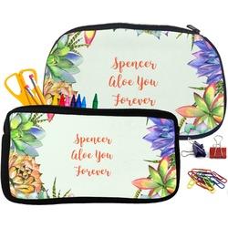 Succulents Pencil / School Supplies Bag (Personalized)