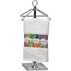Succulents Cotton Finger Tip Towel (Personalized)