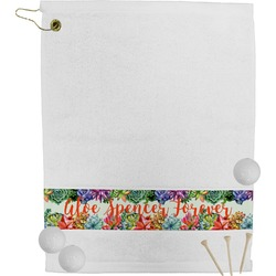 Succulents Golf Towel (Personalized)