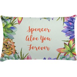 Succulents Pillow Case (Personalized)