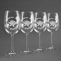 Succulents Wineglasses (Set of 4) (Personalized)