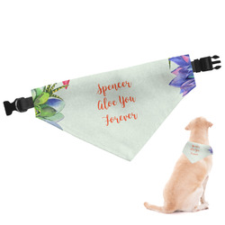 Succulents Dog Bandana (Personalized)