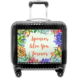 Succulents Pilot / Flight Suitcase (Personalized)