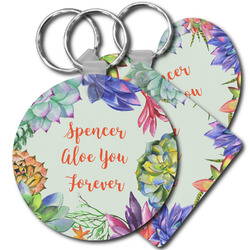 Succulents Plastic Keychains (Personalized)