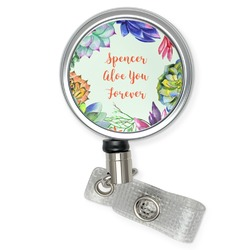 Succulents Retractable Badge Reel (Personalized)