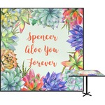 Succulents Square Table Top (Personalized)