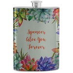 Succulents Stainless Steel Flask (Personalized)