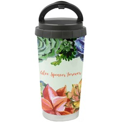 Succulents Stainless Steel Travel Mug (Personalized)
