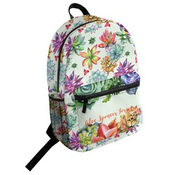 Succulents Student Backpack (Personalized)