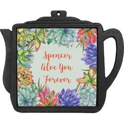 Succulents Teapot Trivet (Personalized)