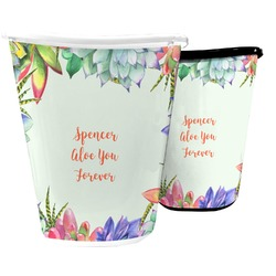 Succulents Waste Basket (Personalized)