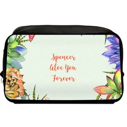 Succulents Toiletry Bag / Dopp Kit (Personalized)