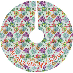 Succulents Tree Skirt (Personalized)