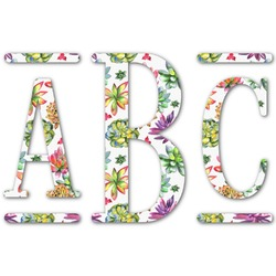Succulents Monogram Decal - Custom Sized (Personalized)