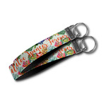 Succulents Wristlet Webbing Keychain Fob (Personalized)