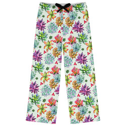 Succulents Womens Pajama Pants (Personalized)