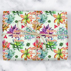Succulents Wrapping Paper (Personalized)