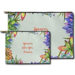 Succulents Zipper Pouch (Personalized)