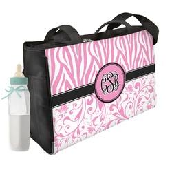 Zebra & Floral Diaper Bag (Personalized)
