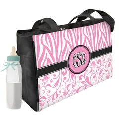 Zebra & Floral Diaper Bag (Personalized)