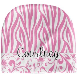 Zebra & Floral Baby Hat (Beanie) (Personalized)
