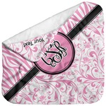 Zebra & Floral Baby Hooded Towel (Personalized)