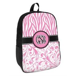 Zebra & Floral Kids Backpack (Personalized)