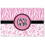Zebra & Floral Woven Mat (Personalized)