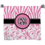 Zebra & Floral Bath Towel (Personalized)