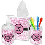 Zebra & Floral Bathroom Accessories Set (Personalized)