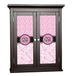 Zebra & Floral Cabinet Decal - Custom Size (Personalized)