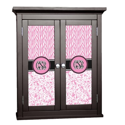 Zebra & Floral Cabinet Decal - Medium (Personalized)
