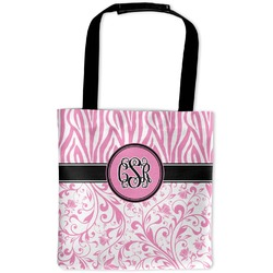 Zebra & Floral Auto Back Seat Organizer Bag (Personalized)