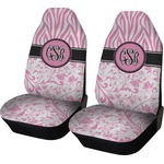 Zebra & Floral Car Seat Covers (Set of Two) (Personalized)