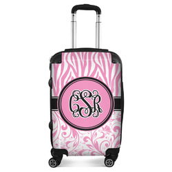 Zebra & Floral Suitcase (Personalized)
