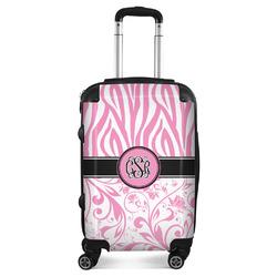 Zebra & Floral Suitcase (Personalized)