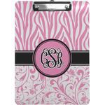 Zebra & Floral Clipboard (Personalized)